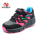 Kids Roller Skate Wheel Shoes Boys Girls Invisible Slide Auto Push-button Shoes