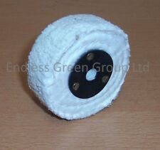 "3"" Stitched Cotton Buffing Wheel 75 x 25mm ideal for polishing with drill  C75/2"