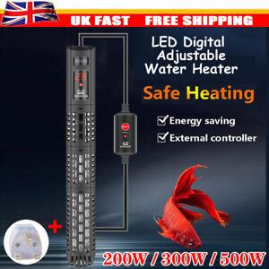 200/300/500W Digital Heater Aquarium Thermostat Tropical Marine Fish Tank UK