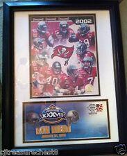 2003 Superbowl XXXVII Tampa Bay Bucs USPS Commemorative Envelope Stamp Framed