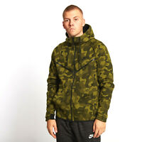 Nike Tech Fleece Men's Camo Windrunner Jacket Hoodie Kangaroo Pocket S