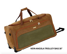 """Faux Suede Havey Duty Extra Large Travel Bags On Wheeled Holdall 20"""" and 30"""""""