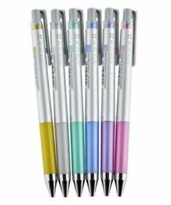 6 x Pilot Juice Up Gel Ink Retractable Pen Needle point 0.4mm - Metallic Set