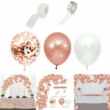 130-teilig Luftballons Hochzeit Birthday Geburtstag Girlande Party Konfetti Deko