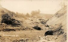 # A880   CAVENDISH,  VT.  REAL PHOTO .  POSTCARD,  FLOOD WASHOUT OF ROAD