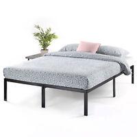 14'' Classic Metal Platform Bed with HEAVY DUTY Steel Slats, Storage,Queen King