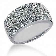 Right Hand Ring in 14k Gold 1.30 Carats Women's Round Brilliant Cut Diamond