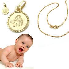 Kinder Baby Gott schütze Dich Echt Gold 585 Enge mit Kette Silber 925 vergoldet
