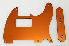 Tele Telecaster Orange Mirror Humbucking pickguard + control plate set Fender