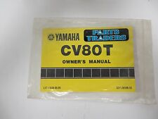 OEM Yamaha Scooter Owner's Manual CV 80 T Riva 1987