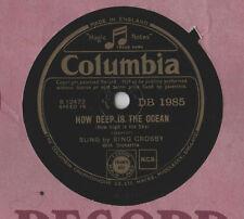 """Bing Crosby - How Deep is The Ocean 10"""" Single 78 rpm"""
