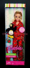2008 CHRISTMAS MORNING BARBIE Red Penguin PJs, Gift & Plush K8898_C9+ NRFB