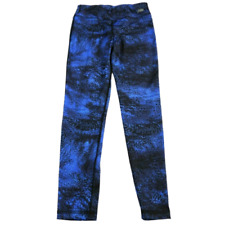 NWT New Balance Blue & Black Leggings Girls Size Medium 10/12