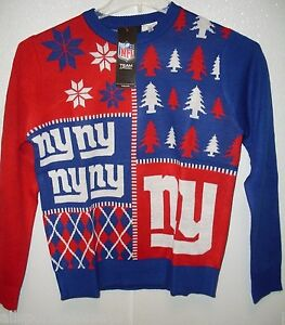 NFL New York Giant Busy Block Ugly Sweater Size Youth Medium by FOCO