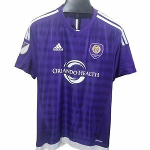 Orlando City Adidas Jersey Purple MLS Soccer Shirt Men's Large Free Shipping