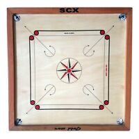 """Pro 33/"""" Large Carrom Board Wooden Game With Coins /& Striker 296-AOMH"""