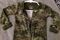 Baby Boy Camo Helicopters Sleeper Footed Pajamas Children's Place 12 Months Zip