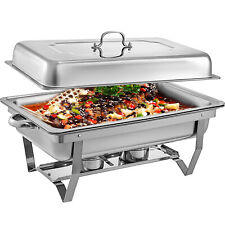 6 Pack 8QT Buffet Chafer Chafing Dish Server Restaurant Service Warm Tray Set -,