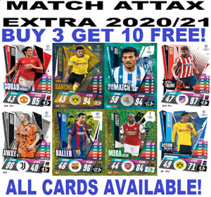 TOPPS MATCH ATTAX EXTRA 2020/21 20/21 BASE CARDS ☆ FOIL CARDS BUY 3 GET 10 FREE!