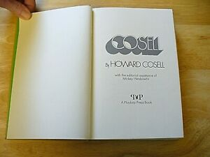 """SPORTS - Book - """"Cosell"""" - Howard Cosell -1973  - Hardcover - NICE"""