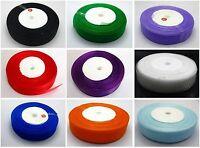 "50 Yards 3/4"" (20mm) Wedding Crafts Sheer Organza Ribbon Color Choose"