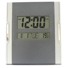 MONTRE NUMÉRIQUE GRIS LCD MULTIFONCTIONNEL DE BUREAU – IDÉE CADEAU