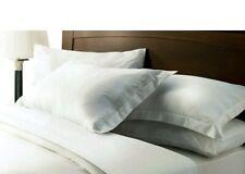 4x WILKO 'BEST' EGYPTIAN COTTON STRIPE WARM WHITE PILLOWCASES HOUSEWIFE/PLAIN