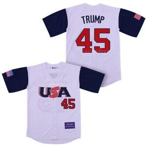 2020 USA Team Trump #45 Baseball Jerseys Stitched Anniversary Trump Gift
