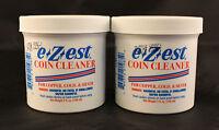 COIN CLEANER - E-Z-EST - COPPER, GOLD, SILVER - 5 Oz. Jar - 2 TOTAL