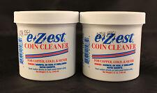 COIN CLEANER - EZEST - COPPER, GOLD, SILVER - 5 Oz. Jar - 2 TOTAL