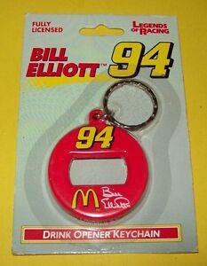 Bill Elliott Vintage Keychain Bottle Can Opener #94 McDonald's 1997 NOS