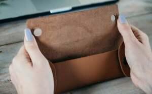 Wallet Leather Pencil Case, wallet Pencil Case, Leather Pen Case.