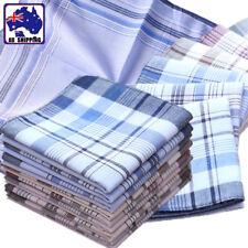 3pc 40x40cm Men Pocket Square Handkerchief Hanky Stripe Cotton  CMHA94601x3
