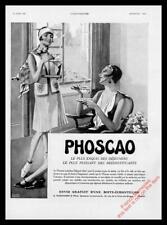 1930 PHOSCAO CHOCOLATE DRINK ADVERT - Original French Art Deco Ad / Print FM682