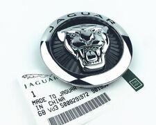 86mm Car Front Hood Grille Emblem Sticker Decal Badge Black Logo For Jaguar XF