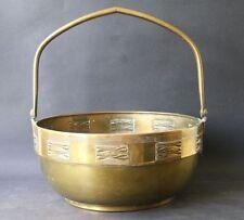 großer Messing Korb, Schale Jugendstl / Art Deco  Durchmesser 29 cm Höhe 33 cm
