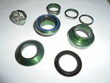 """New Crupi Anodized Green Aluminum Sealed Bearing 1"""" Threadless Headset BMX"""
