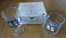 Prince Wales Lady Diana Spencer Commemorative Glasses Royal Wedding Collectable