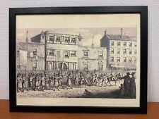 Framed engraving 30x40 cm Freemason Vrijmetselarij Masonic Parade
