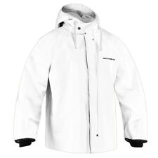 Grundens Brigg 44 All Weather Hooded Jacket Parka - White - Select Size