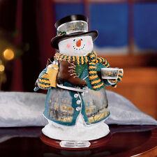 Thomas Kinkade Figurine - Christmas Memories Snowman New  Item 1513888004 COA