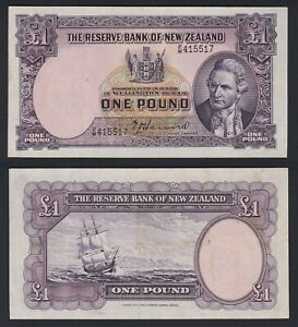 New Zeland 1 pound 1940(55) Sign. T.P. Hanna  BB/VF  C-06
