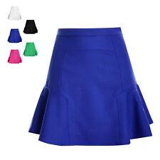 Fashion Women Girls High Waist Pleated Chiffon Fishtail Mini Skirt Prom Dress