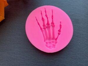 3D Fondantform Skelett Hand Halloween Silikonform Backform