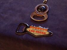 Lot of 2: 1 Las Vegas Welcome Sign Bottle Opener & 1 Laughlin KeyChain