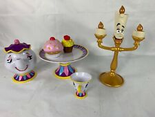 Disney Beauty And The Beast Tea Set With Talking Lumiere And Mrs. Potts