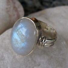 Handgefertigte Echtschmuck-Ringe aus Sterlingsilber Mondstein
