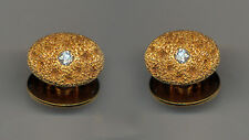 ANTIQUE GOLD DIAMOND DOUBLE SIDED CUFFLINKS