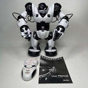 "ROBOSAPIEN 14"" tall model 8081- WHITE BLACK - COMPLETE CUP REMOTE MANUAL"