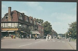 Postcard Harpenden nr St Albans Hertfordshire zebra crossing in High Street